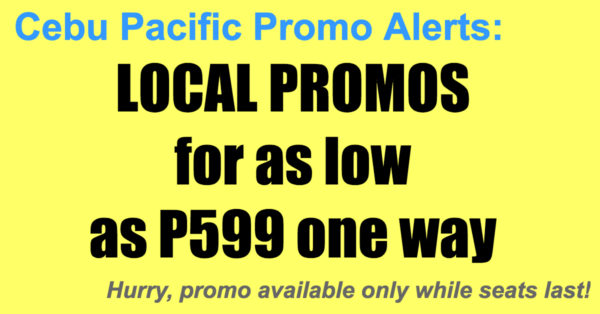 Cebu Pacific Local Promos Nov 2017-Mar 2018