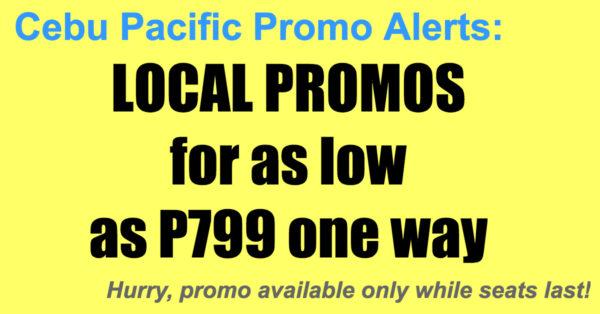 Cebu Pacific Local Promos Mar-May 2018