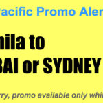 Cebu Pacific Promos Manila Dubai Sydney Jan-May 2018 for as Low as P5599 One Way
