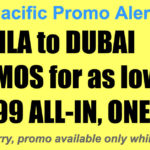 Cebu Pacific Manila Dubai Promos Nov 2017-Mar 2018 for as Low as P5999 All In, One-Way