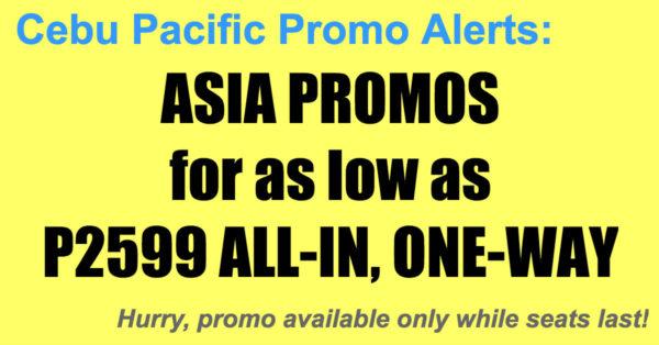 Cebu Pacific Asia Promos Nov 2017-Mar 2018
