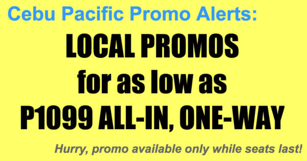Cebu Pacific Local Seat Sale Oct-Dec 2017