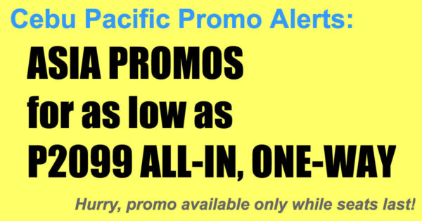 CebuPacific Asian Promos Nov 2017-Mar 2018