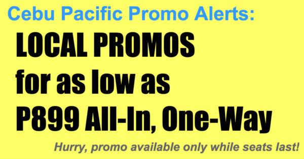 Cebu Pacific Local Promos Oct 2017-Mar 2018