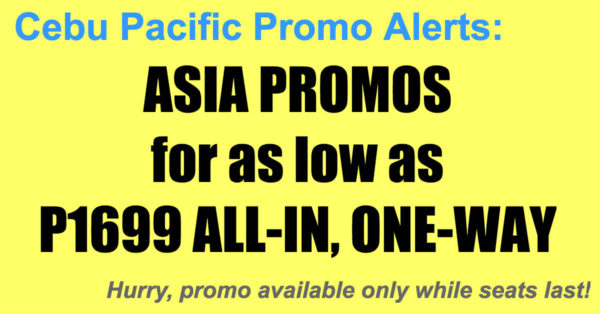 Cebu Pacific Asia Sale Dec 2017-Mar 2018