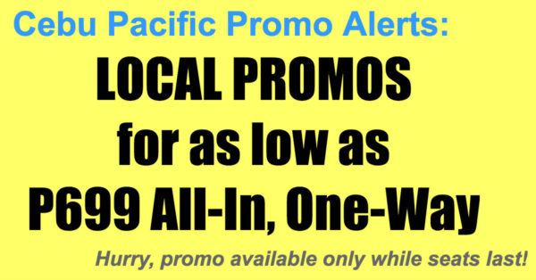 Cebu Pacific Local Promos Jun-Sept 2018 for P699 All-In, One-Way
