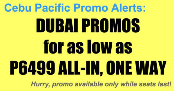 Cebu Pacific Dubai Promos Dec 2017-Mar 2018