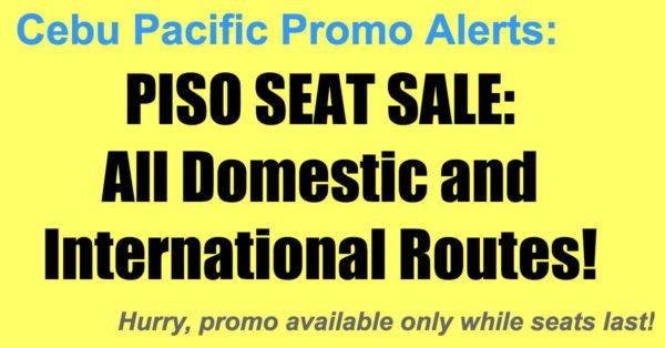 Cebu Pacific Piso Seat Sale Jun-Oct 2018